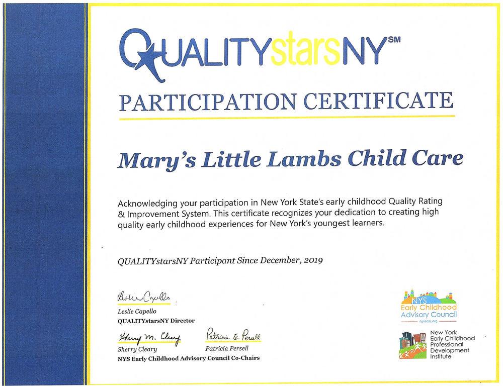 QUALITYStarsNY State-Level Accreditation - Preschool & Childcare Center Serving Buffalo, NY